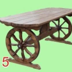 Стол деревянный на колесах