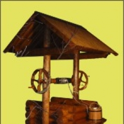 Колодец деревянный из сруба