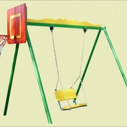Качели металлические с баскетбольным щитом