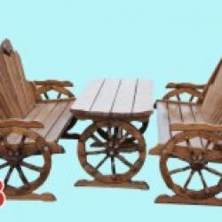 Набор на колесах:две лавки и стол