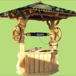 Колодец деревянный из полу сруба